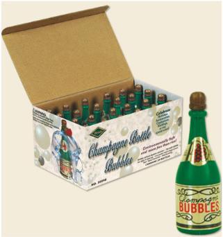 Champagne Bottle Bubbles 24ct