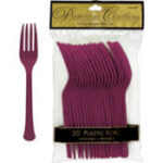 Tableware Burgundy Forks 24ct