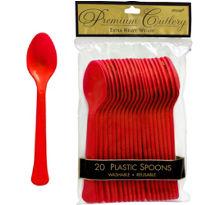 Tableware Red Cutlery Spoons 24ct