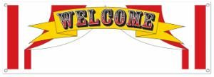 Circus Welcome Banner