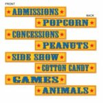 Circus Street Signs 4 ct
