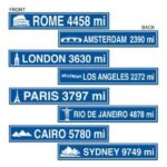 A International Travel Street Signs 4ct