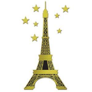 France Eiffle Tower Paris Cutout 70in &7 Stars