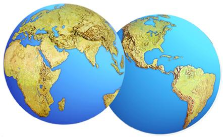 A Planet Earth Cutout 16 in