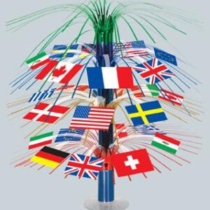 A International Flags Centerpiece 18in