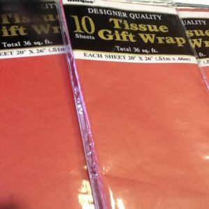 Gift Tissue Paper Red 10ct
