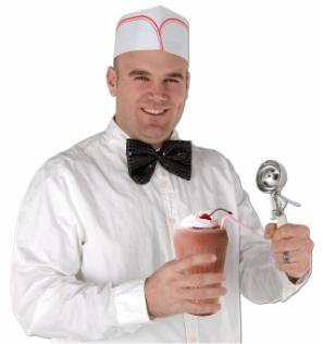 Soda Jerk Paper Hats 4ct