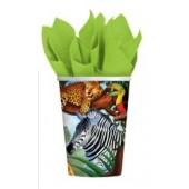 Jungle Safari paper Cups 8ct