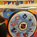 Hockey Faceoff Birthday Banner
