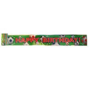 Soccer Foil Birthday Banner
