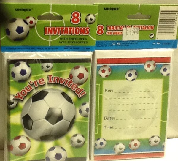 Soccer Party Invitation 8ct