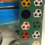 Soccer Loot bag Stickers 2sheets