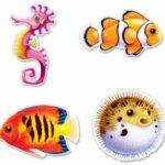 Under Sea Creatures Cutouts  4ct