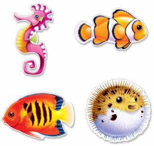 Under Sea Creatures Cutouts  4ct