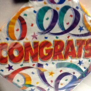 Party Streamers Congrats Lunch Napkins