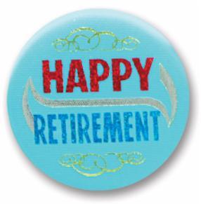 Happy Retirement Button