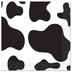 Barn Farm Cow Print Lunch Napkins