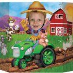 Barn Farm Tractor Photo Prop