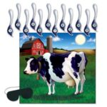 Barn Farm Game Pin the Tail On Cow