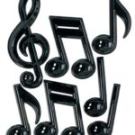 Decor Music Notes Plastic 7ct
