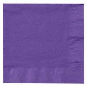 Tableware Purple Lunch Napkins 50ct