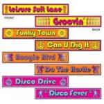 70's Disco Street Signs Cutouts 4ct