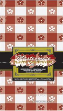 Tableware Gingham Red Table Cover