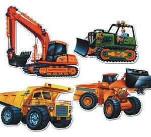 Construction Vehicle Cutouts 4ct