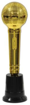 Award Microphone Trophy