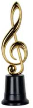 Musical Note  Trophy