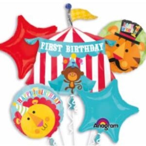 Balloon 1st  Birthday Circus  Bouquet
