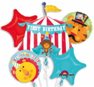 Balloon 1st  Birthday Circus  Bouquet