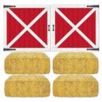 Barn Backdrop Door & Haybale Prop