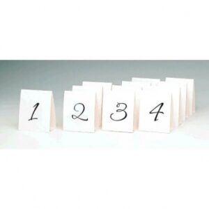 1-12 Table Numbers Tent  Style