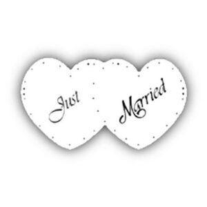Wed Car Decor Just Married Heart