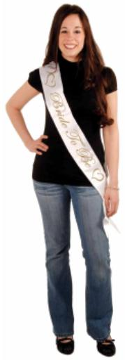A Bride to Be Sash Satin