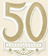 50th Anniversasy Crest Cutout
