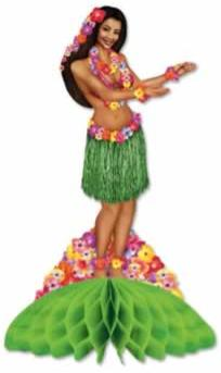 Centerpiece Hula Girl  14in