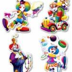 Circus Cutouts 4 ct