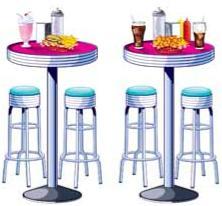 50's Diner Soda Prop N Stool Prop