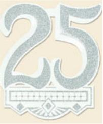 25th Anniversary Crest 14in