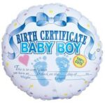 Balloon Birth Certificate Boy Balloon