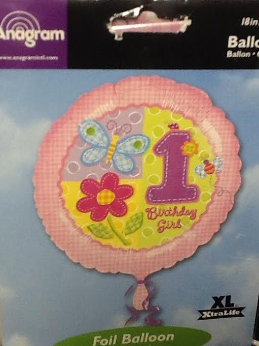 Birthday Balloon 1st  Birthday Hug & Stitches