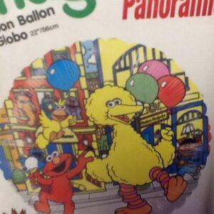 Balloon Seasame Street Panaromic