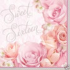 16 Blossom Sweet Sixteen Lunch Napkins 36ct