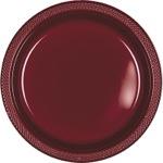 Tableware Burgundy Plastic Plates 7in 20ct