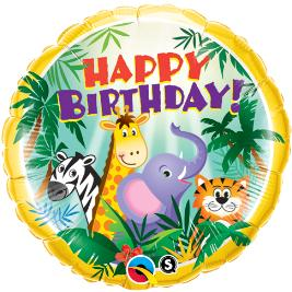 Balloon Birthday Animals Jungle