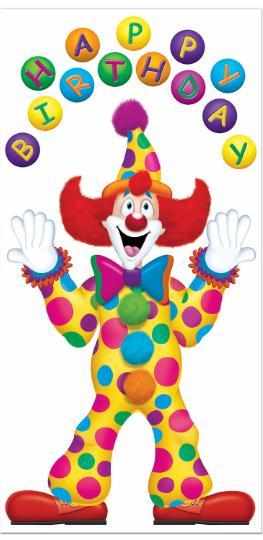 Birthday Clown Decor