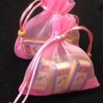 Favor Bags Organza Pink
