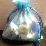 Favor Bags Organza Blue
